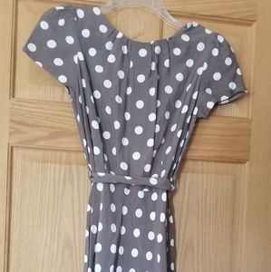 Viscose polka dot dress